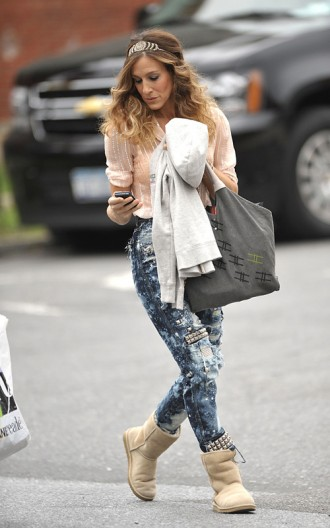 Sarah Jessica Parker on the set of SATC2