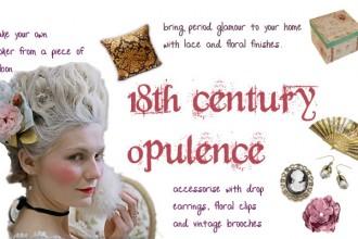 18th century drama-inspired opulence