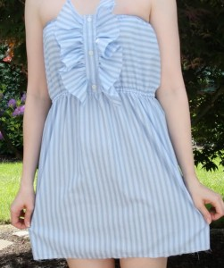 Mans shirt into a dress